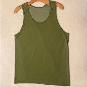 Lululemon, Moss green, metal vent tank, size M